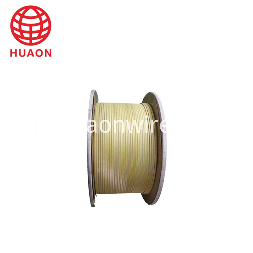 Fiberglass Covered Flat Aluminum Wire