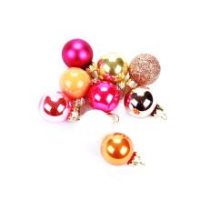 Enfeite de Natal conjunto Multicolor Mini bola de vidro de Natal