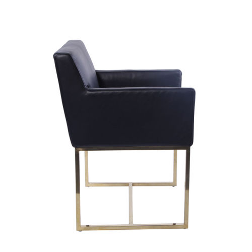Fauteuil en cuir Emery Lether Track Arm