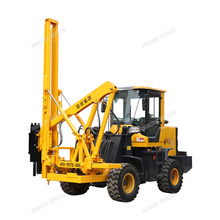 Hot sales road side fence post driver machine hydraulic installation mini loading pile driver