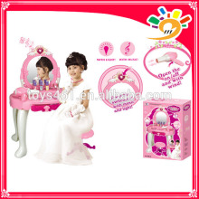 Dressing table with music and light funny game toys for girl