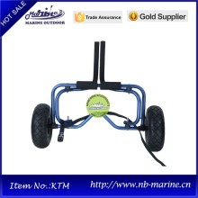 dark blue adjustable kayak trailer for sale with tie down strap