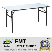 Rectángulo muebles de hotel utilitario plegable tabla de banquetes (EMT-FT605)