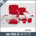 Оптовая элегантная цветовая гамма рождественского фарфора блестящая набор посуды