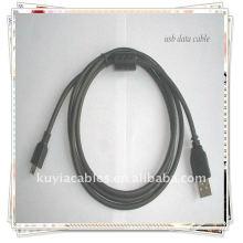 Hochwertiges schwarzes USB 2.0 Micro USB-Kabel mit Ferritkern Neu