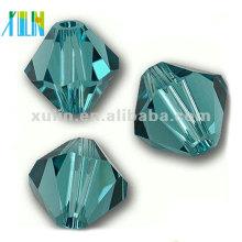5301 # 8mm Charme Aquamarine Cristal Bicone Beads para fazer jóias