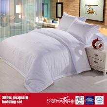 300TC Жаккардовые оптом постельное белье в отеле тонкой простыней