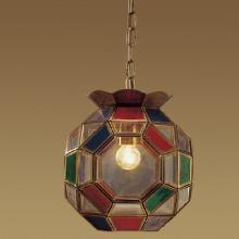 Handmade Glass Brass Hanging Lamp (1202-2)