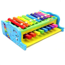 Colorful Xylophone Playing Percussion Combo Wooden Toy