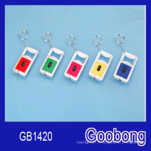 Rectangle LED Keychain avec ouvre-bouteille