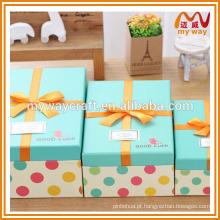 Caixa de presente de férias agradável, caixa de papel de guangzhou