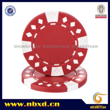 11,5g de puce de poker ABS de 2 tons à base de diamants