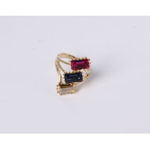 Fashion Jewelry Ring with Square Stones