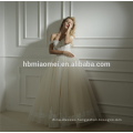 Factory supply custom made Spring new design one word floor length wedding dress bridal gown