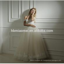 Fabrik-Versorgungsmaterial-kundenspezifisches Frühlings-neues Entwurf ein Wort-Bodenlängen-Hochzeitskleid-Brautkleid