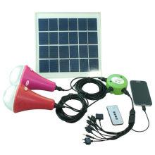 2014 el superventas solar luces lámpara solar portátil para uso en interiores luz camping