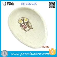Cute Owl Hot Sale Egg-Shaped Ceramic Spoon Rest