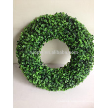 2015 cheap round shape artificial boxwood garland for Xmas