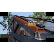 Schalldämmung für Aluminiumrahmen mit niedrigem Abstand Sunroom mit Verbundglas