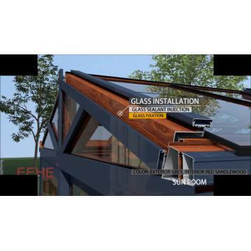L'isolation acoustique du cadre en aluminium abaisse Sunroom avec verre feuilleté