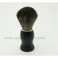 Private Label Black Handle Brosse à cheveux haute qualité pour cheveux