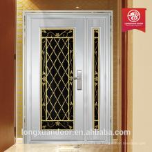 Luxus doppelte Eingang Türen hight Qualität Stahl Tür verwendet Außentür zum Verkauf