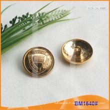 Bouton en alliage de zinc et boutons en métal et bouton de couture métallique BM1640
