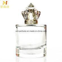 Botella de cristal vendedora caliente del perfume 100ml con el casquillo de Surlyn