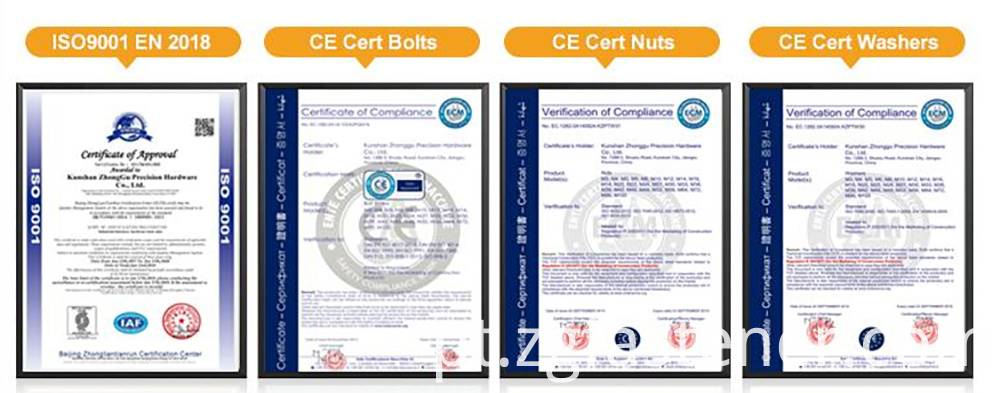 Hex Bolts certifications