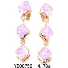 Opale boucle d'oreille bijoux (YE00750)