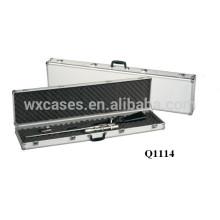 nueva llegada ---- caso de rifle de aluminio durable con espuma dentro del fabricante