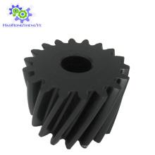 Engrenagem helicoidal de plástico / nylon de preto