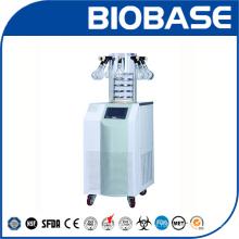 Máquina de liofilizador de secado por congelación vertical Biobase con botellas de secado
