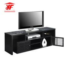 Dark Wood TV Stand Furniture With Storage