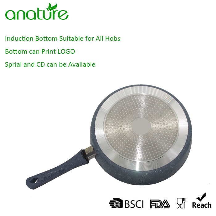 Removable Handle Marble Nonstick Frying Pan