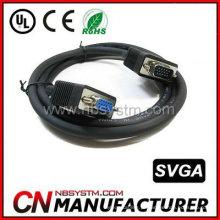 Hd 15 pinos macho para macho VGA cabo para projetor