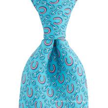Horseshoe Motif Custom Print Men Perfect Nudo Private Label Silk Ties