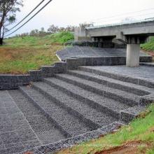 Galvanizado Gabion cesta / PVC revestido Gabion cesta