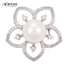 Xuping Mode De Luxe Rhodium Big Main Cristaux De Perles De Swarovski Élément De Bijoux En Forme de Fleur Broche -00013