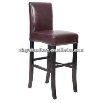 Brown leather hotel bar stool chair XYH1025