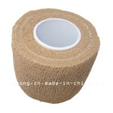 Color de piel de vendaje de crepé de alta elasticidad médica