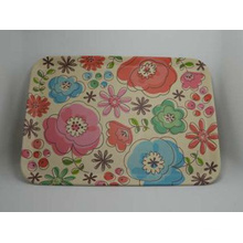 Bamboo Fiber Tableware Tray with Printed (BC-TP1002)
