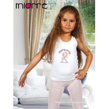 Miorre OEM Kid's Girl algodón lindo ángel figura Imprimir sin mangas Tank Top