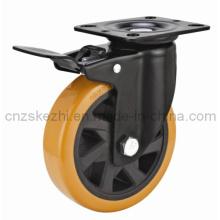 Mh4 Med-Heavy Duty Type de frein Double roulement à billes Black PU Wheel Roulette