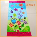 Kapas Velour Flower dan Butterfly Printed Beach Towel