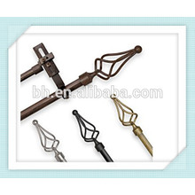 Adjustable Double Curtain Rod Set with Bird Cage Finial In Hangzhou