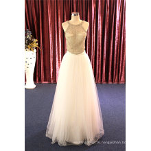 French Beads Fashion Evening Cocktail Gowns Wedding Dress