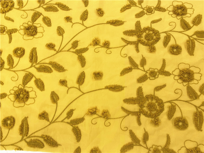 Turmeric Embroidery Fabric