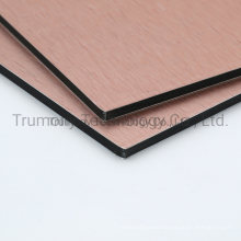 Exteriorl Wall Cladding Brushed Copper Aluminum Composite Panel for Decorations