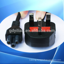 British power plug with fuse plum blossom type the tail/power cord